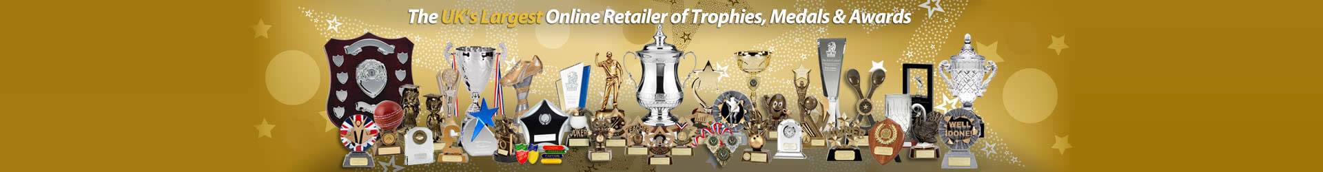 The UK's Largest Online Retailer of Trophies, Medals & Awards