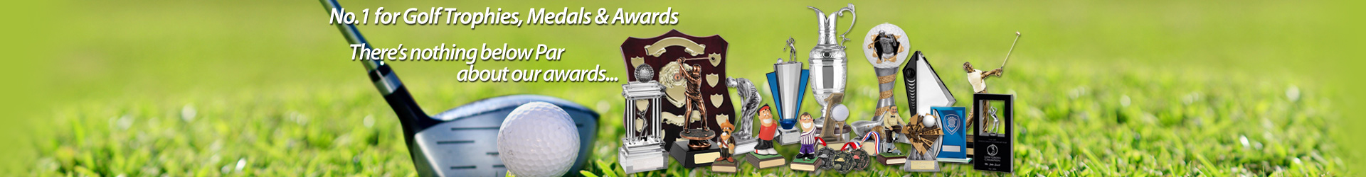 Golf Trophies Medals & Awards