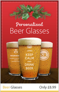 Personalised Christmas Beer Glasses